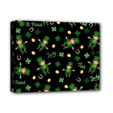 St Patricks Day Pattern Deluxe Canvas 14  X 11  by Valentinaart