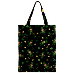 St Patricks Day Pattern Zipper Classic Tote Bag by Valentinaart