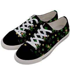 St Patricks Day Pattern Women s Low Top Canvas Sneakers by Valentinaart