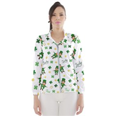 St Patricks Day Pattern Wind Breaker (women)