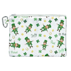 St Patricks Day Pattern Canvas Cosmetic Bag (xl)