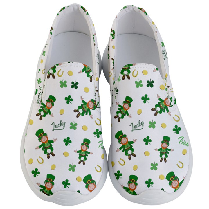 St Patricks day pattern Men s Lightweight Slip Ons