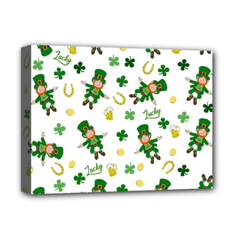 St Patricks Day Pattern Deluxe Canvas 16  X 12