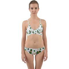 St Patricks Day Pattern Wrap Around Bikini Set