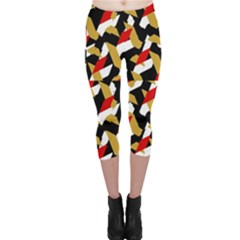 Colorful Abstract Pattern Capri Leggings  by dflcprints