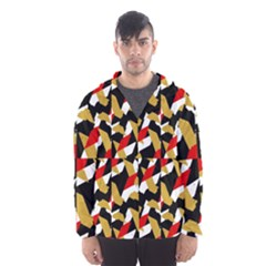 Colorful Abstract Pattern Hooded Wind Breaker (men) by dflcprints