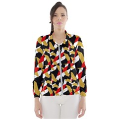 Colorful Abstract Pattern Wind Breaker (women) by dflcprints