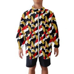 Colorful Abstract Pattern Wind Breaker (kids) by dflcprints