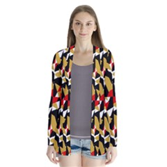 Colorful Abstract Pattern Drape Collar Cardigan by dflcprints