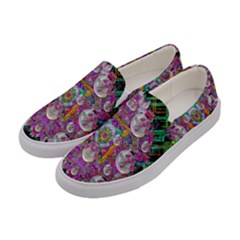 The Most Beautiful Planet Is Earth On The Sky Women s Canvas Slip Ons by pepitasart