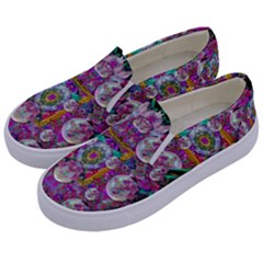 The Most Beautiful Planet Is Earth On The Sky Kids  Canvas Slip Ons by pepitasart