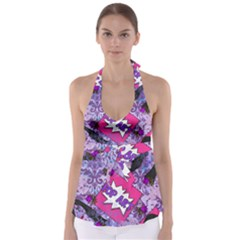 Purlpe Retro Pop Babydoll Tankini Top by snowwhitegirl