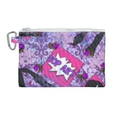 Purlpe Retro Pop Canvas Cosmetic Bag (large) by snowwhitegirl