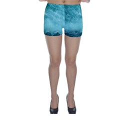 Green Ocean Splash Skinny Shorts by snowwhitegirl