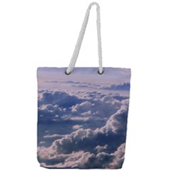 In The Clouds Full Print Rope Handle Tote (large)