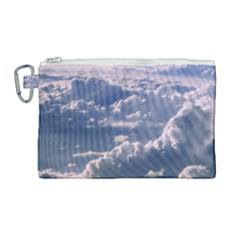 In The Clouds Canvas Cosmetic Bag (large) by snowwhitegirl