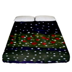 Snowy Roses Fitted Sheet (king Size) by snowwhitegirl