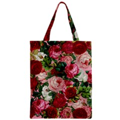 Rose Bushes Zipper Classic Tote Bag by snowwhitegirl