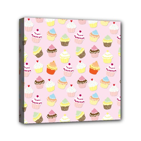 Baby Pink Valentines Cup Cakes Canvas Travel Bag by PodArtist