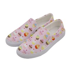 Baby Pink Valentines Cup Cakes Women s Canvas Slip Ons by PodArtist