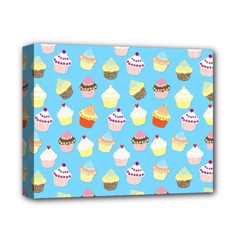 Pale Pastel Blue Cup Cakes Deluxe Canvas 14  X 11  by PodArtist
