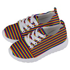 a7495d30a546 Horizontal Gay Pride Rainbow Flag Pin Stripes Kids Lightweight Sports Shoes  by PodArtist