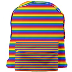 Horizontal Gay Pride Rainbow Flag Pin Stripes Giant Full Print Backpack by PodArtist