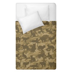 Operation Desert Cat Camouflage Catmouflage Duvet Cover Double Side (single Size) by PodArtist