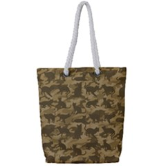 Operation Desert Cat Camouflage Catmouflage Full Print Rope Handle Tote (small) by PodArtist