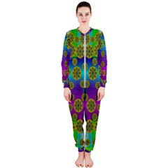 Celtic Mosaic With Wonderful Flowers Onepiece Jumpsuit (ladies)  by pepitasart