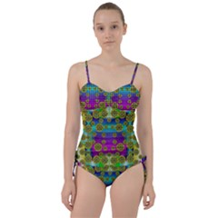 Celtic Mosaic With Wonderful Flowers Sweetheart Tankini Set by pepitasart