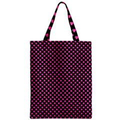 Small Hot Pink Irish Shamrock Clover On Black Classic Tote Bag by PodArtist