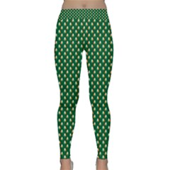 Irish Flag Green White Orange On Green St  Patrick s Day Ireland Classic Yoga Leggings by PodArtist