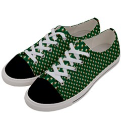 Irish Flag Green White Orange On Green St  Patrick s Day Ireland Women s Low Top Canvas Sneakers by PodArtist