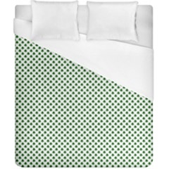 Shamrock 2 Tone Green On White St Patrick's Day Clover Duvet Cover (california King Size) by PodArtist