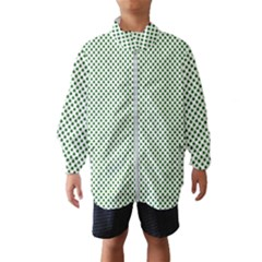 Shamrock 2 Tone Green On White St Patrick's Day Clover Wind Breaker (kids) by PodArtist