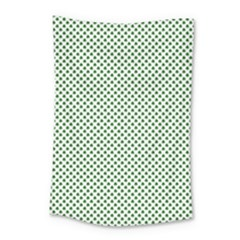 Shamrock 2-tone Green On White St Patrick's Day Clover Small Tapestry by PodArtist