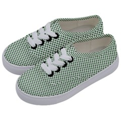 Shamrock 2 Tone Green On White St Patrick's Day Clover Kids  Classic Low Top Sneakers by PodArtist