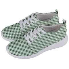Shamrock 2 Tone Green On White St Patrick's Day Clover Men s Lightweight Sports Shoes by PodArtist