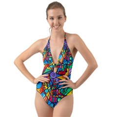 Lyra   Halter Cut Out One Piece Swimsuit