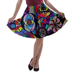 Pleiades   A Line Skater Skirt by tealswan