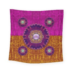 Viva Summer Time In Fauna Square Tapestry (small) by pepitasart