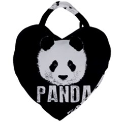 Panda  Giant Heart Shaped Tote by Valentinaart