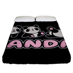 Panda  Fitted Sheet (king Size) by Valentinaart