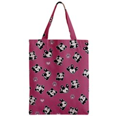 Panda Pattern Zipper Classic Tote Bag by Valentinaart