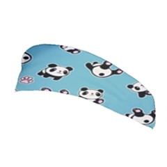 Panda Pattern Stretchable Headband by Valentinaart