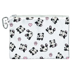 Panda Pattern Canvas Cosmetic Bag (xl)