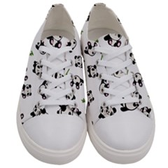 Panda Pattern Women s Low Top Canvas Sneakers