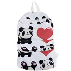 Panda Foldable Lightweight Backpack by Valentinaart