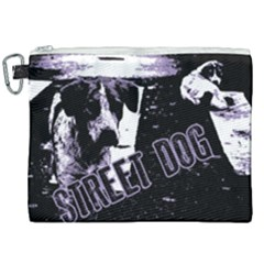 Street Dogs Canvas Cosmetic Bag (xxl) by Valentinaart